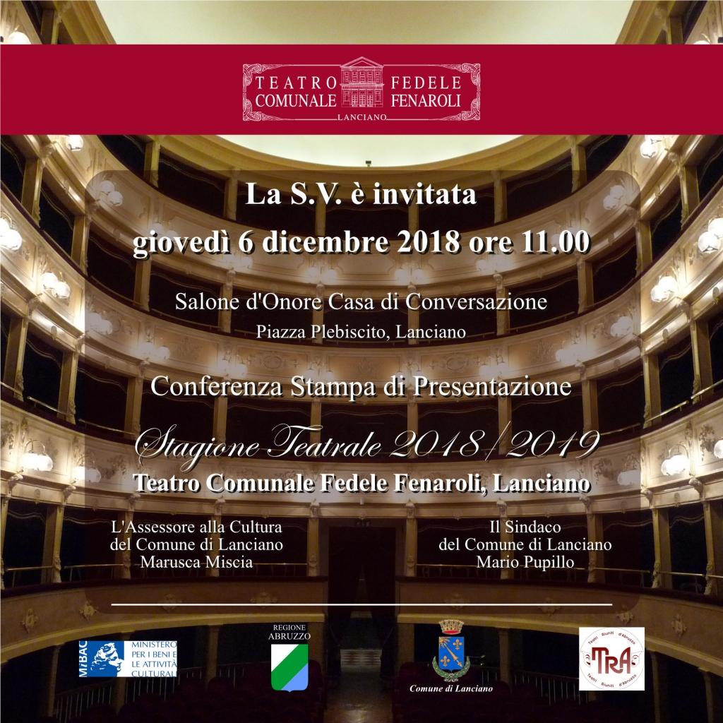 PROGRAMMA TEATRO FENAROLI 2018/2019