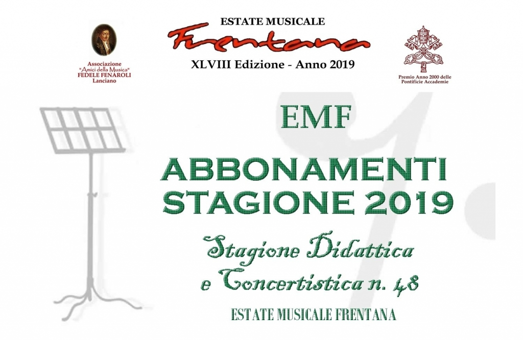 Estate Musicale Frentana 2019