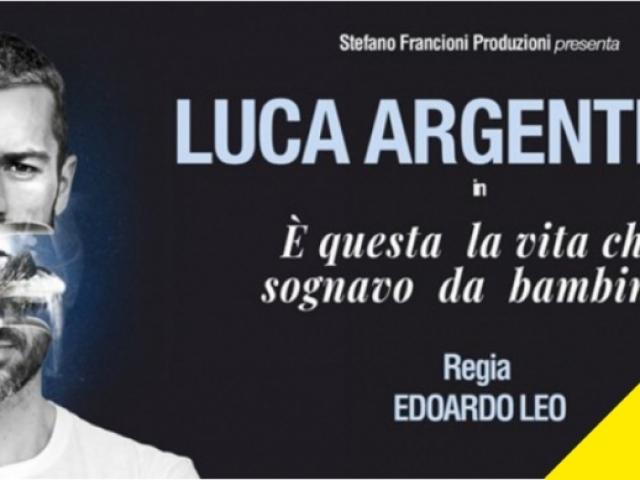 Raddoppio dello spettacolo del 11 aprile Luca Argentero