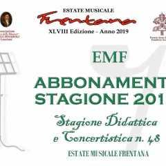 Estate Musicale Frentana 2019